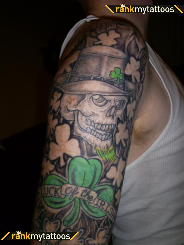 27 irish tattoos on sleeve