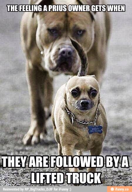 They Are Followed By A Lifted Truck Funny Meme Picture For Facebook 35 very funny truck meme images