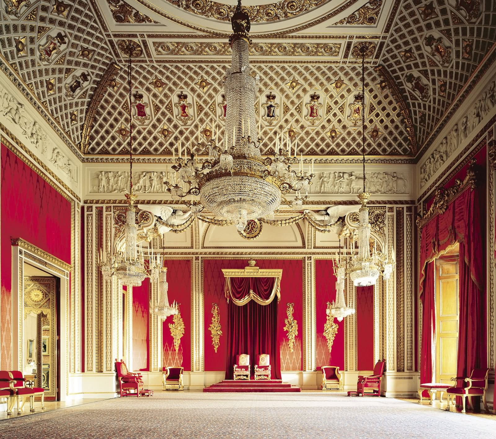Throne Room Inside Buckingham Palace - THE MOST BEAUTIFUL INTERIOR PICTURES OF BUCKINGHAM PALACE LONDON