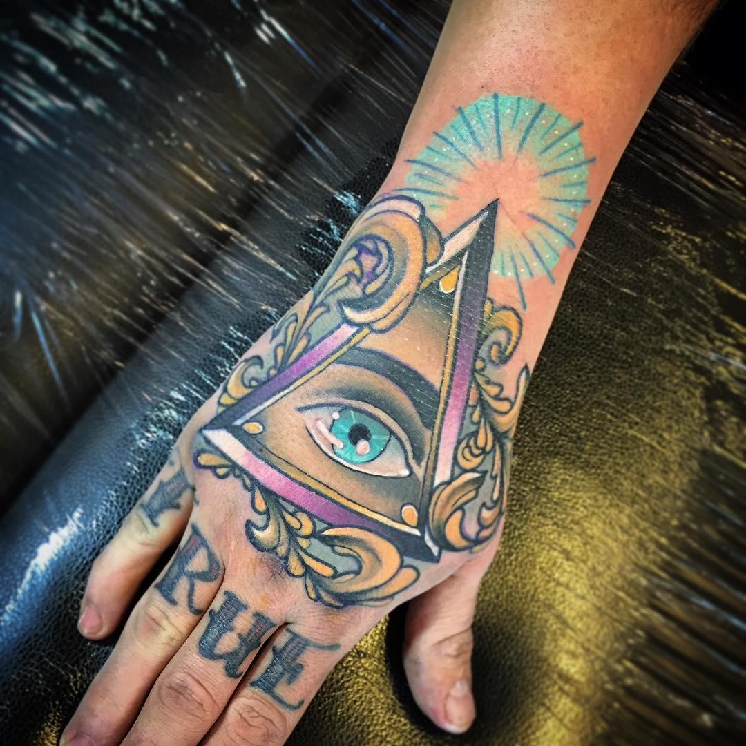 52 Upside Down Triangle Tattoos