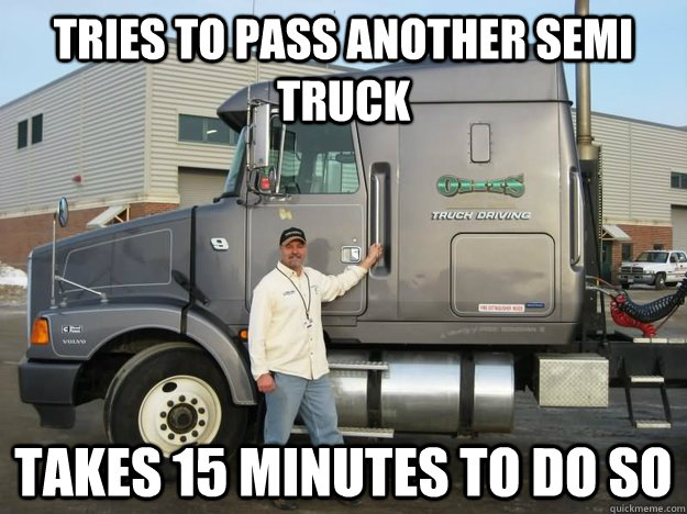 Tries To Passes Another Semi Truck Funny Meme Photo 35 very funny truck meme images