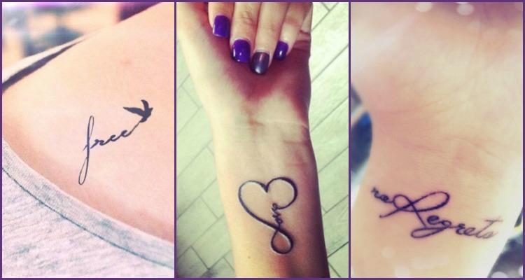 Cool Wrist Tattoo Ideas: 20+ Word Tattoos For Wrists