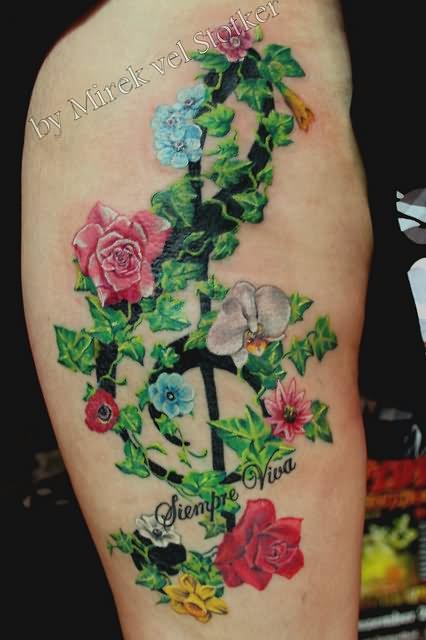 10 nice ivy tattoos on leg for Poison ivy vine tattoos