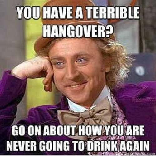 You Have A Terrible Hangover Funny Drinking Meme Picture