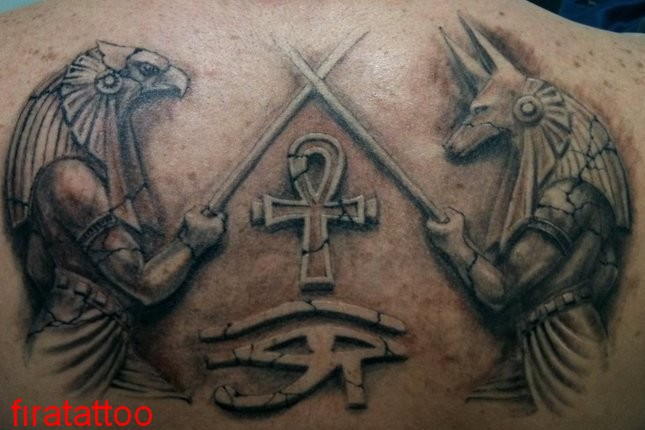 20 beautiful anubis and horus tattoos. Black Bedroom Furniture Sets. Home Design Ideas