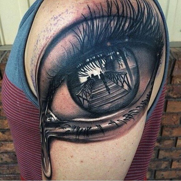 Eye Tattoos Designs Ideas And Meaning: 12+ Scenery Tattoos On Shoulder