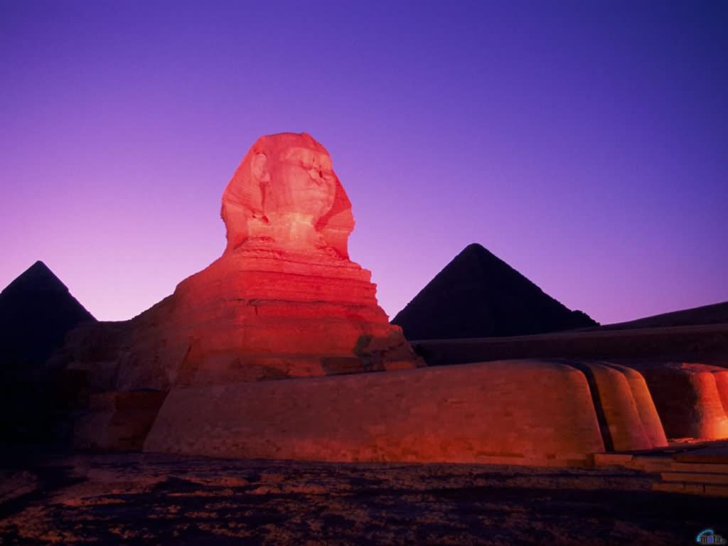 Adorable Night View Of The Great Sphinx Of Giza