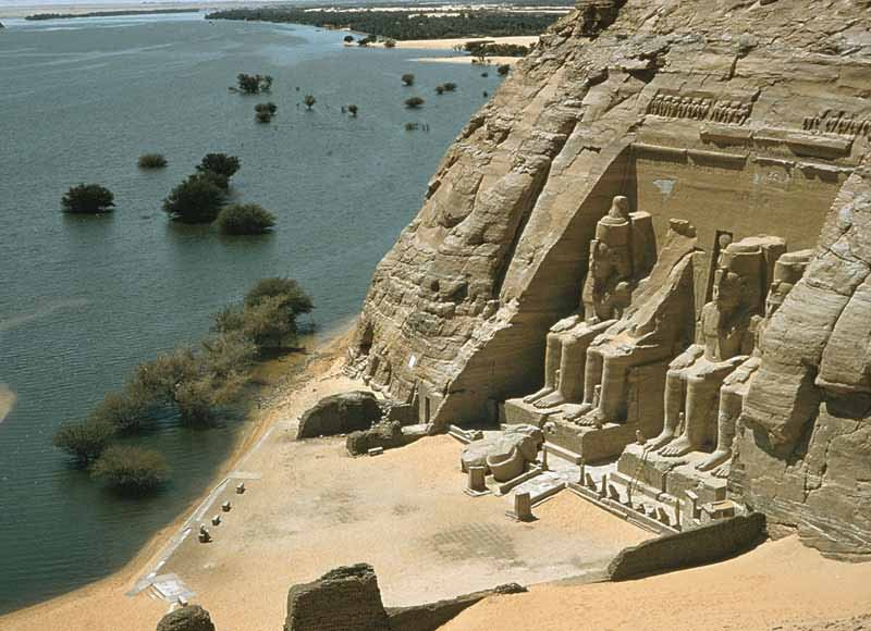 Aerial View Of The Abu Simbel