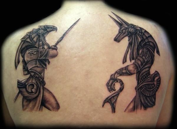 20+ Beautiful Anubis And Horus Tattoos
