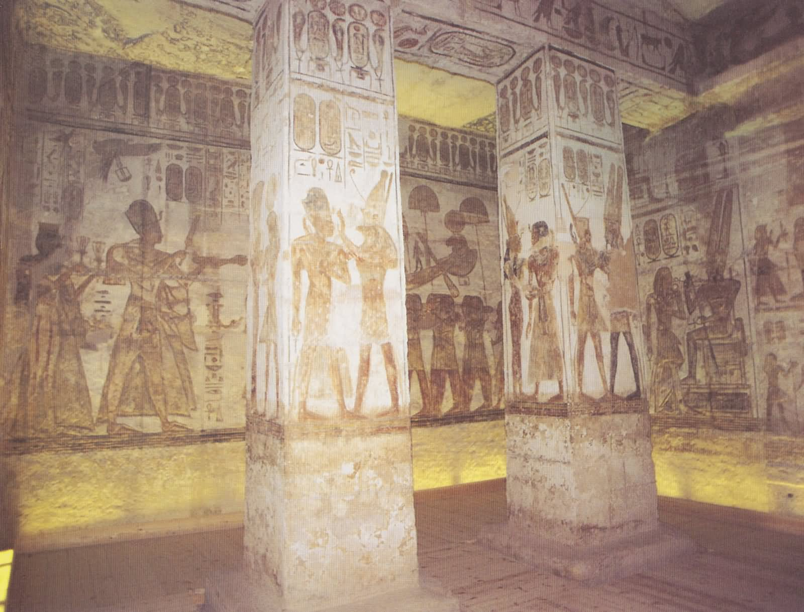 Architecture Pillars Inside The Abu Simbel