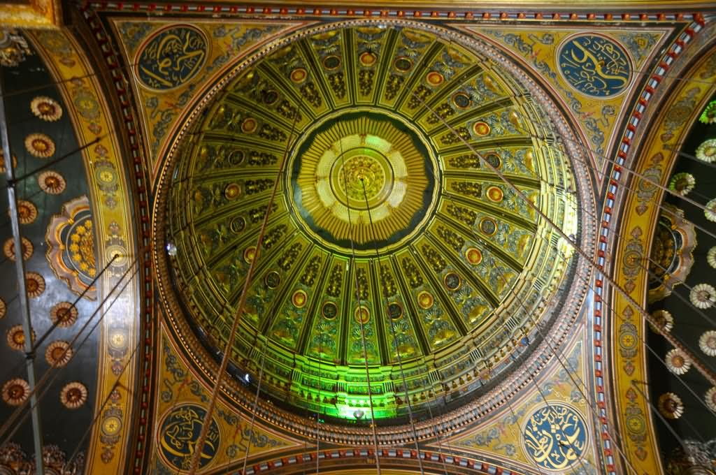 Beautiful Ceiling Inside The Muhammad Ali, Cairo, Egypt