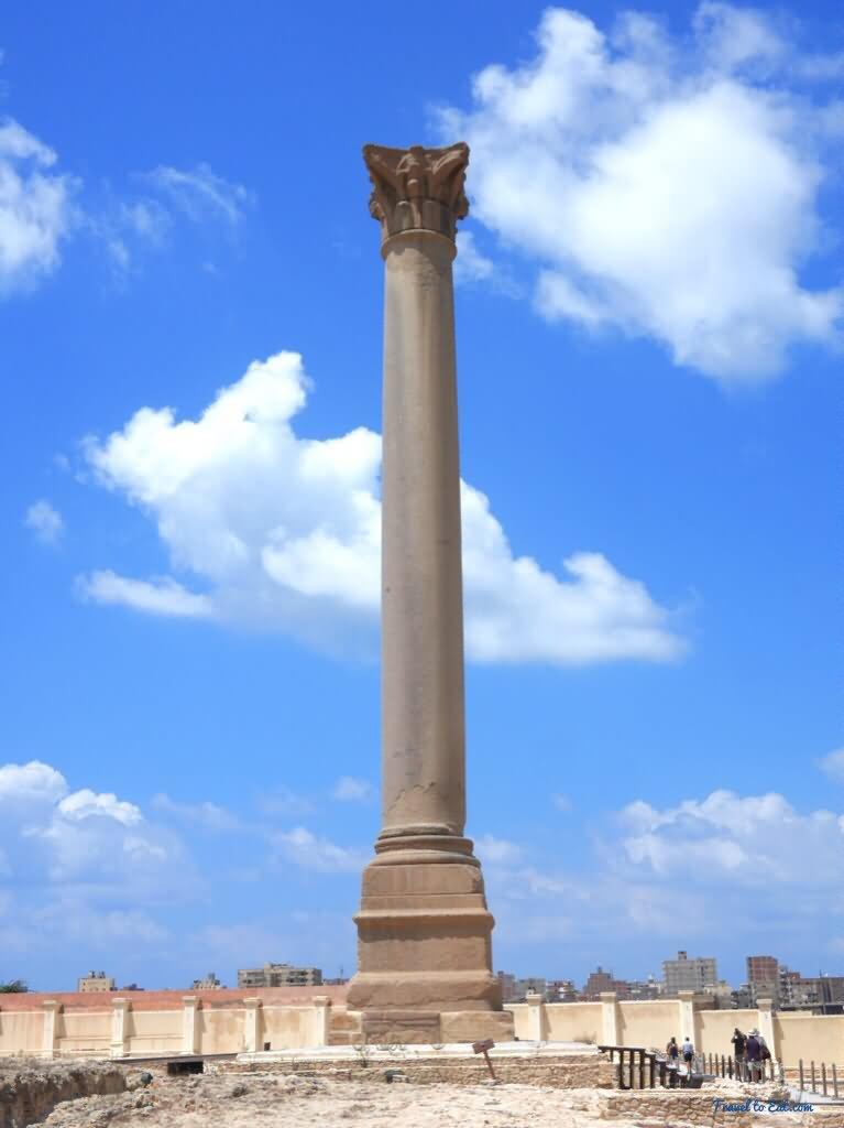 Beautiful Image Of Pompey S Pillar Alexandria Egypt