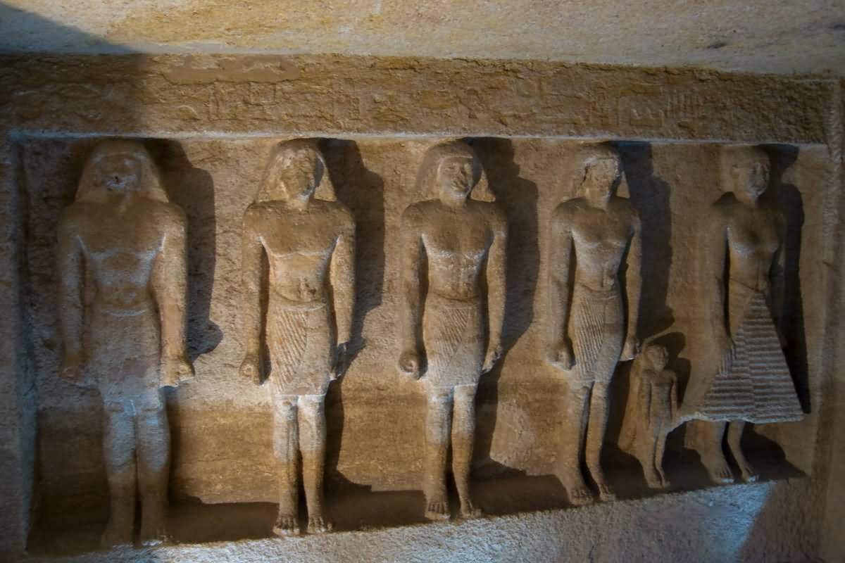 Beautiful Sculptures Inside The Egyptian Pyramid