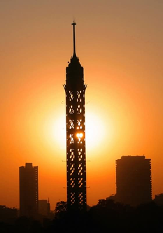 Beautiful Sunset View Of Cairo Tower