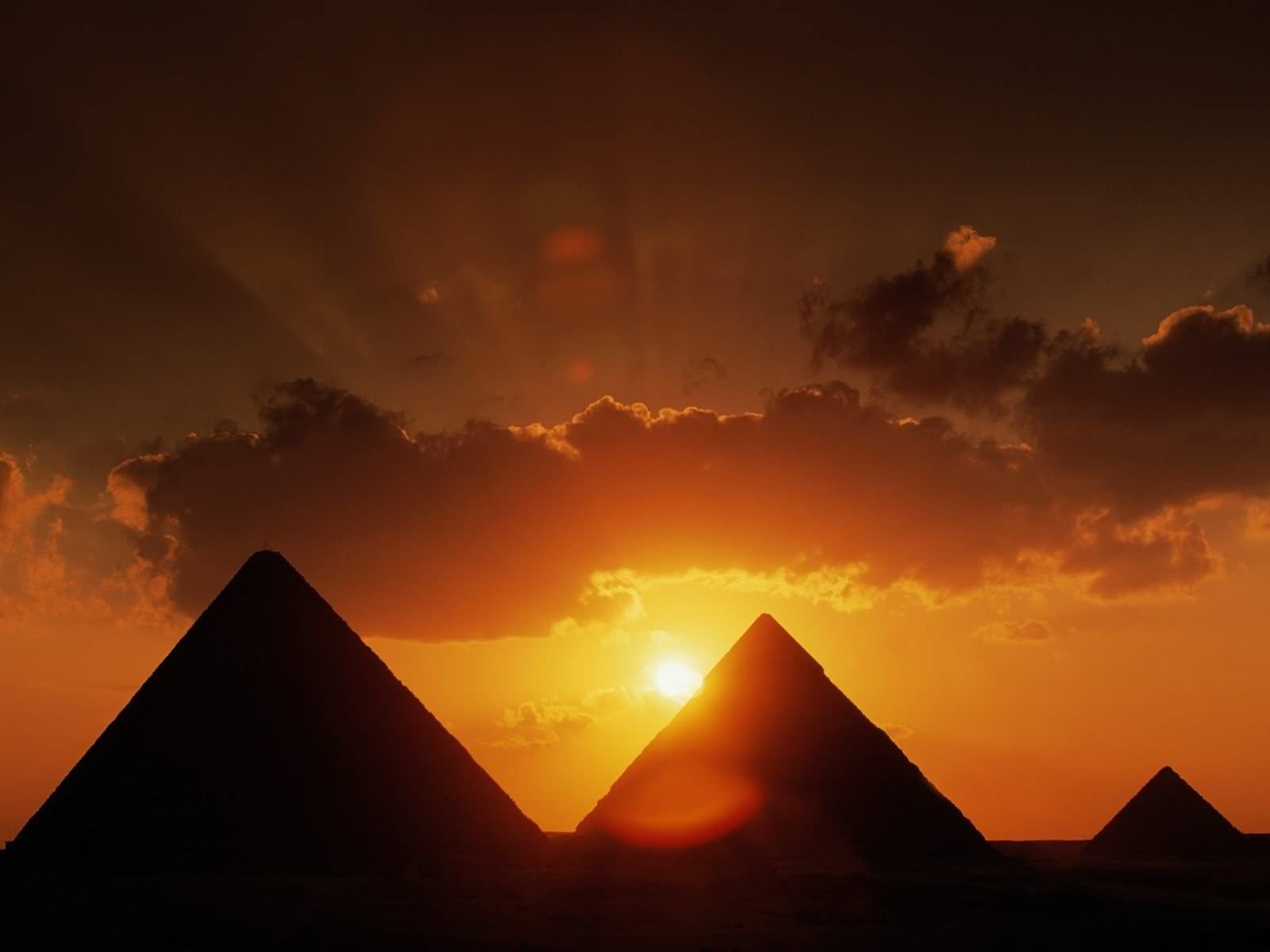 Beautiful Sunset View Of The Egyptian Pyramids