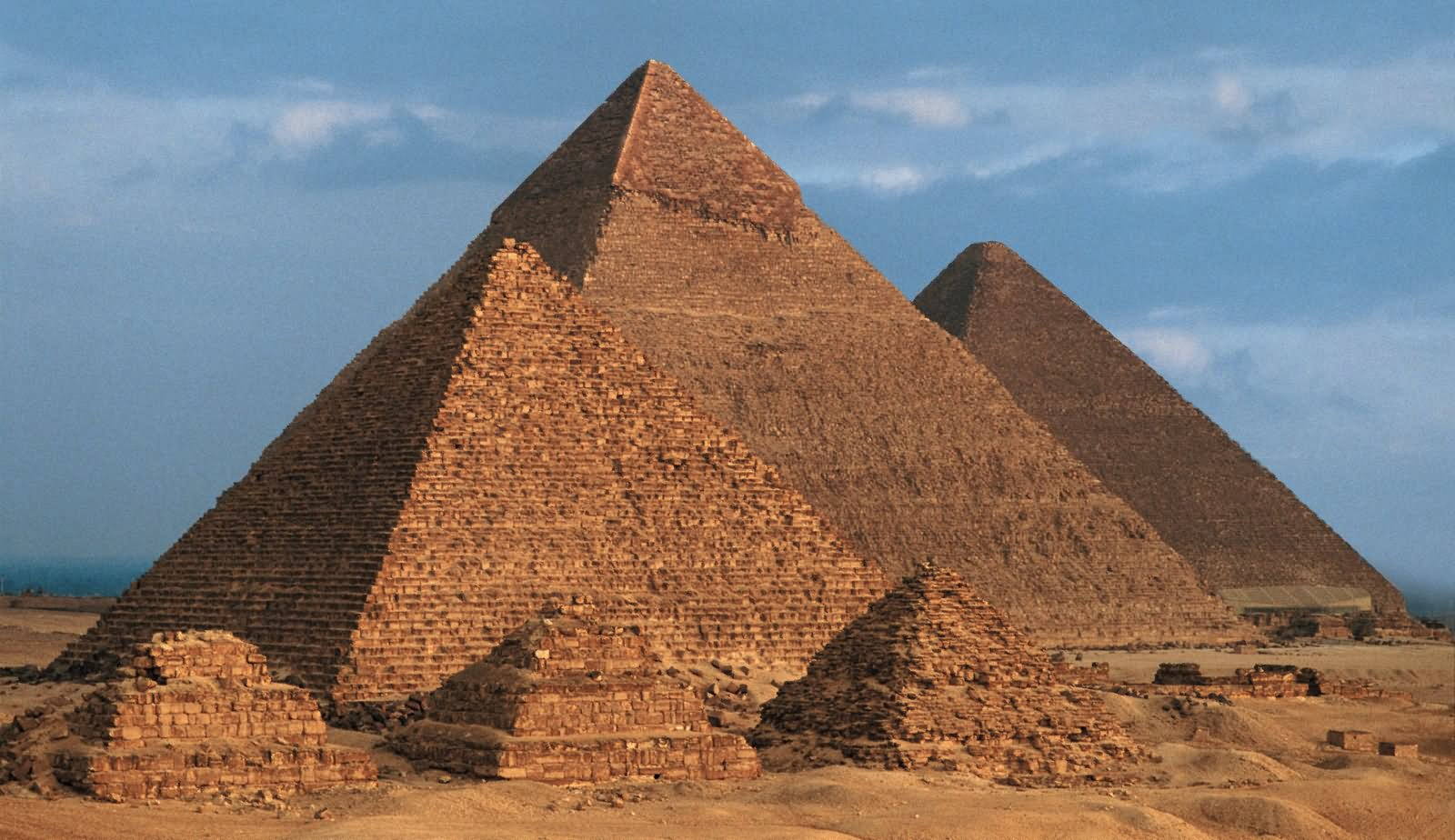 Beautiful View Of Egyptian Pyramids