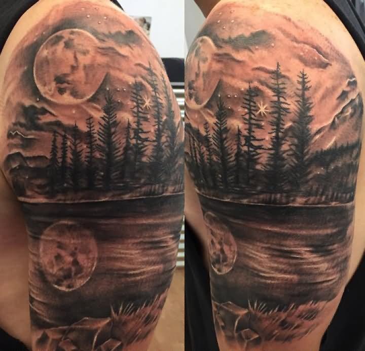 20 scenery tattoos on half sleeve