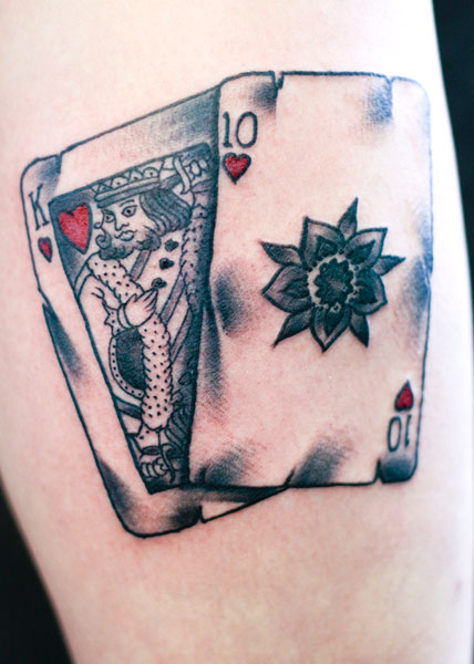 7f6097b996c83 Black And Red King Of Hearts Tattoo Design