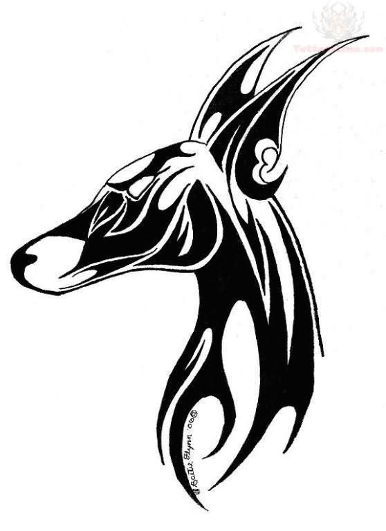 black and white tribal anubis tattoo design. Black Bedroom Furniture Sets. Home Design Ideas