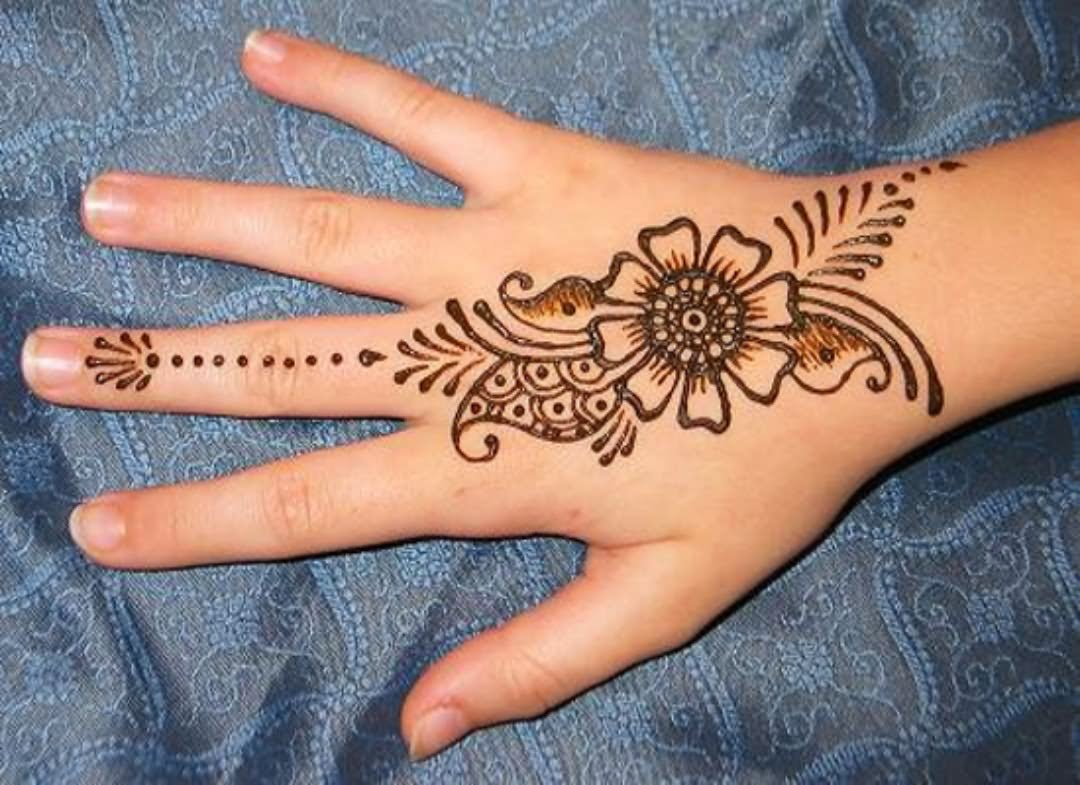 Henna Flower Designs: 34+ Nice Henna Hand Tattoos
