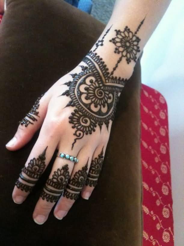34 nice henna hand tattoos for Black temporary tattoo