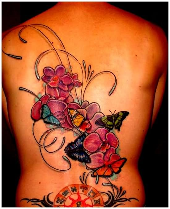 Orchid Flowers Shoulder Tattoo' | Flower tattoo shoulder ...