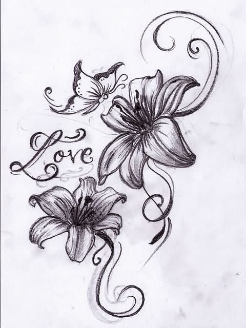 bb3955b13169a Butterfly And Orchid Tattoos Design