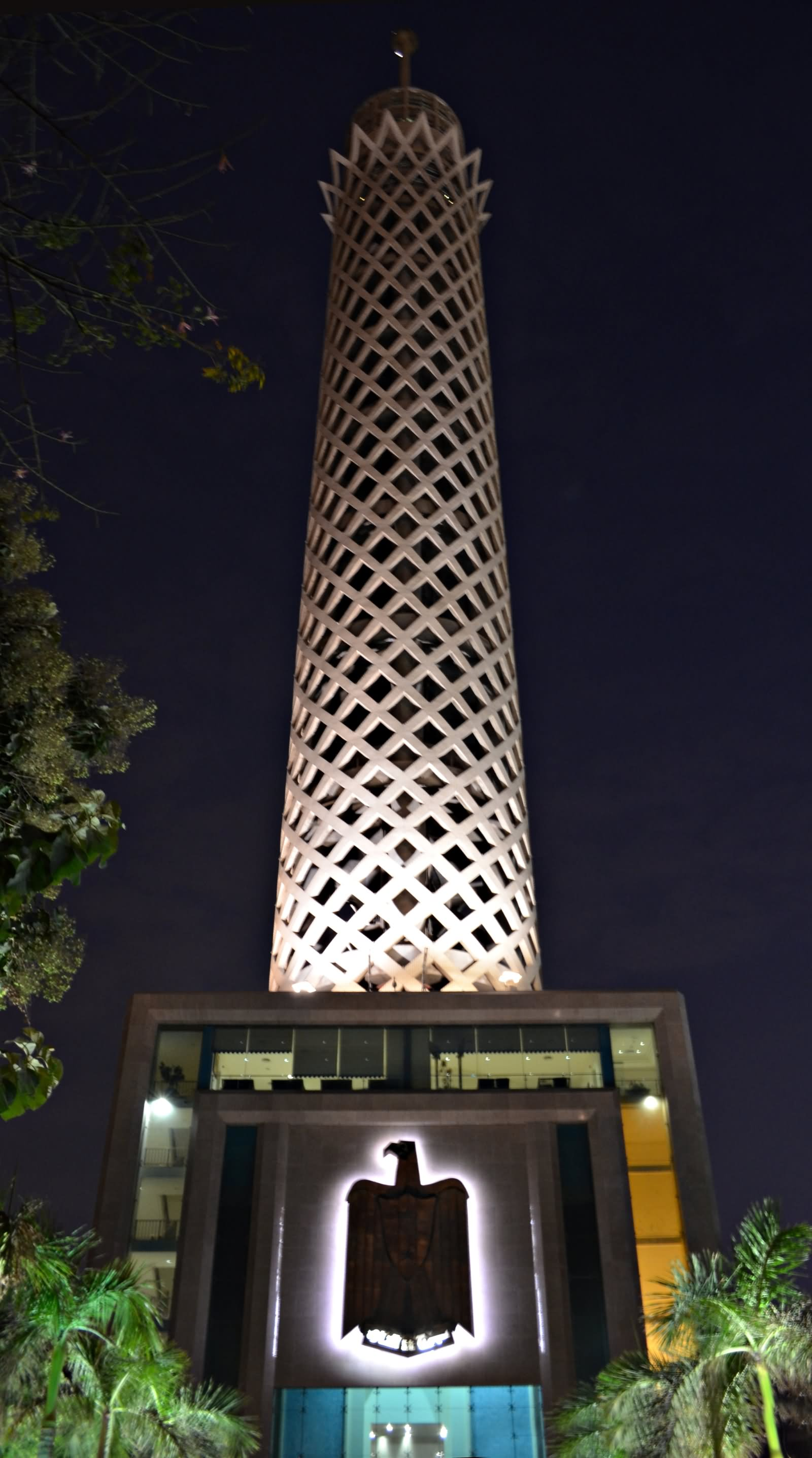 Cairo Tower At Night Picture From Below