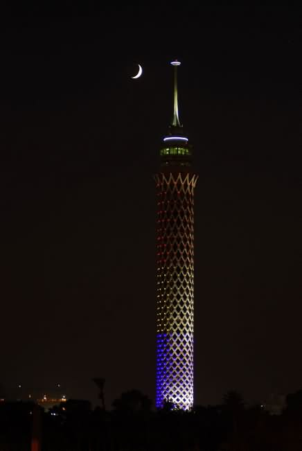 Cairo Tower At Night Picture