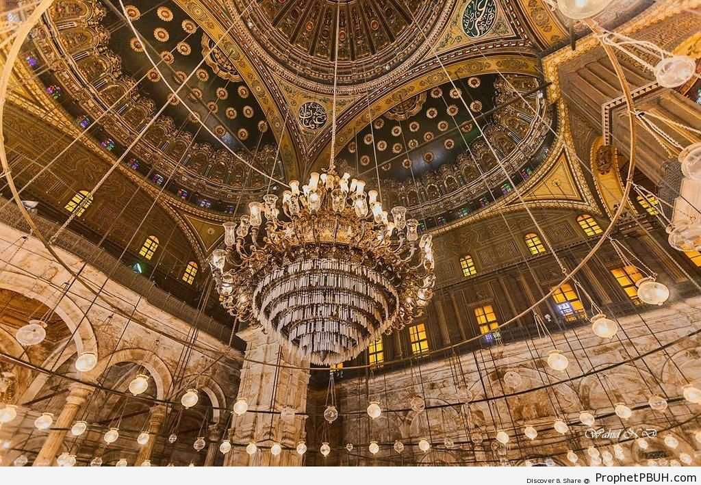 Chandelier Inside The Muhammad Ali, Mosque
