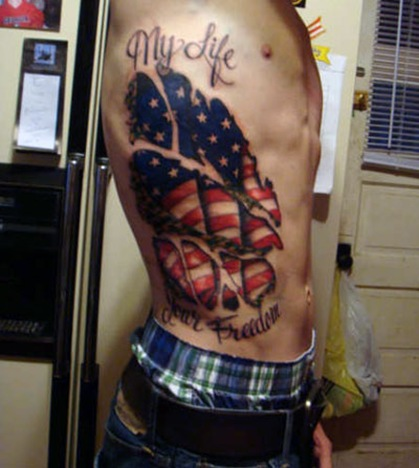 42 military flag tattoos. Black Bedroom Furniture Sets. Home Design Ideas