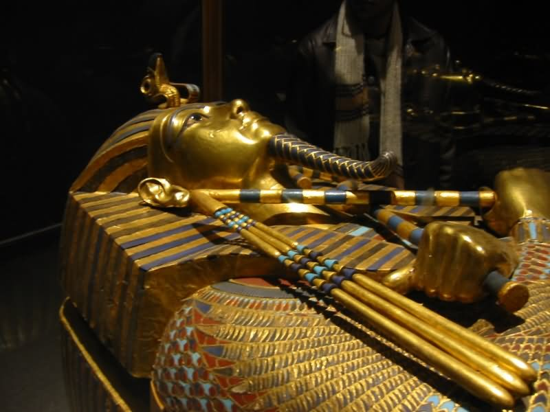 Coffin Of King Tut In The Egyptian Pyramid