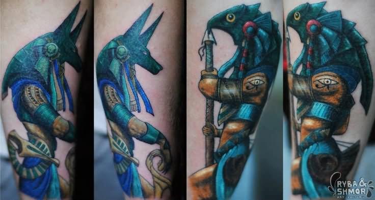 20+ Beautiful Anubis And Horus Tattoos