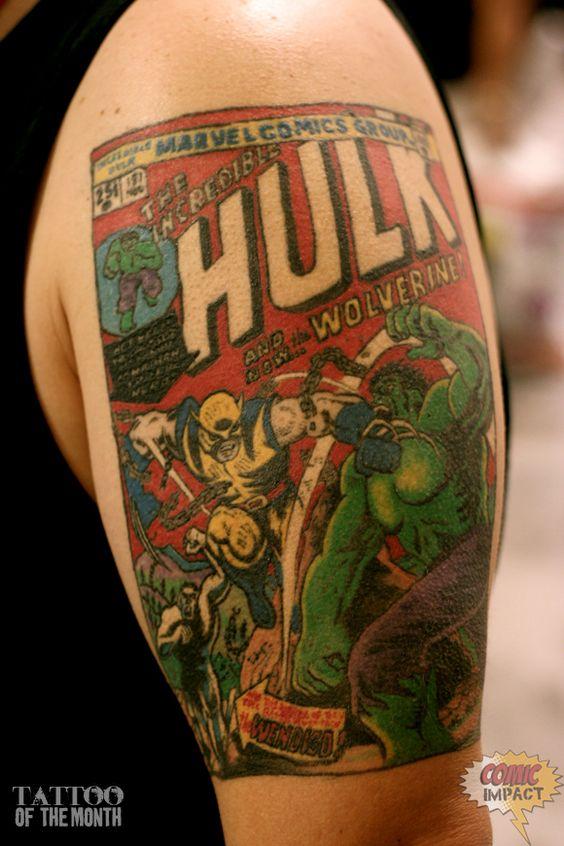 Colored Half Sleeve Geek Tattoo