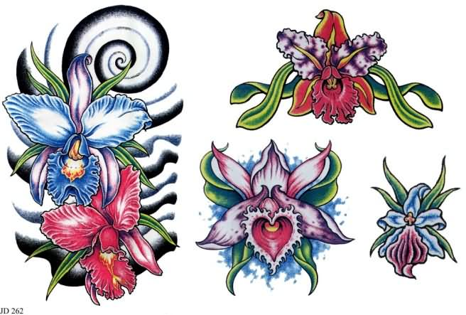 30 Awesome Orchid Tattoos Designs