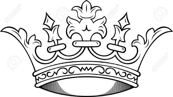Line Art Crown : King crown tattoos designs