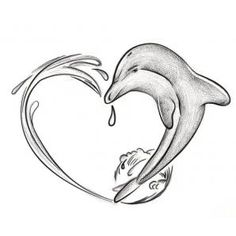 Dolphin outline tattoo - photo#50
