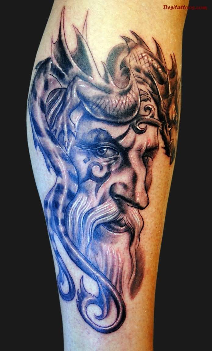 18 wizard tattoos on leg. Black Bedroom Furniture Sets. Home Design Ideas