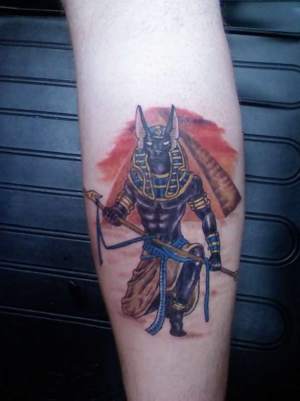 17 Anubis Tattoos On Leg