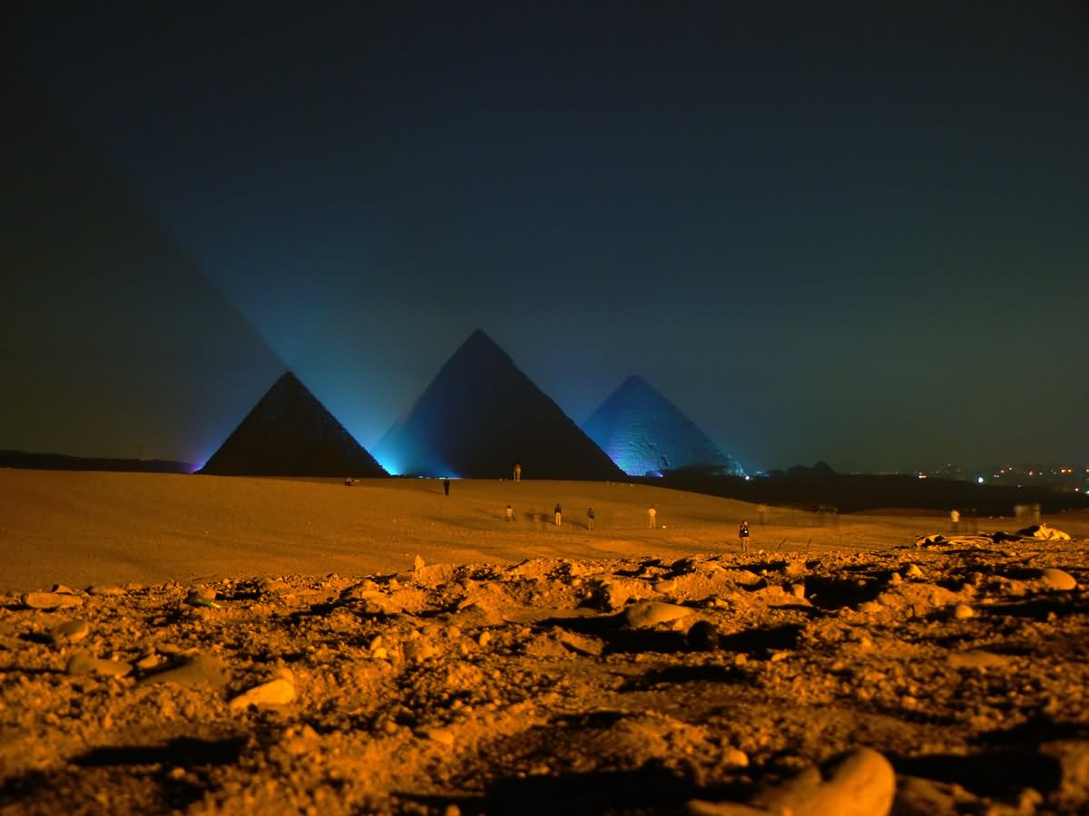 Egyptian Pyramid Night Image
