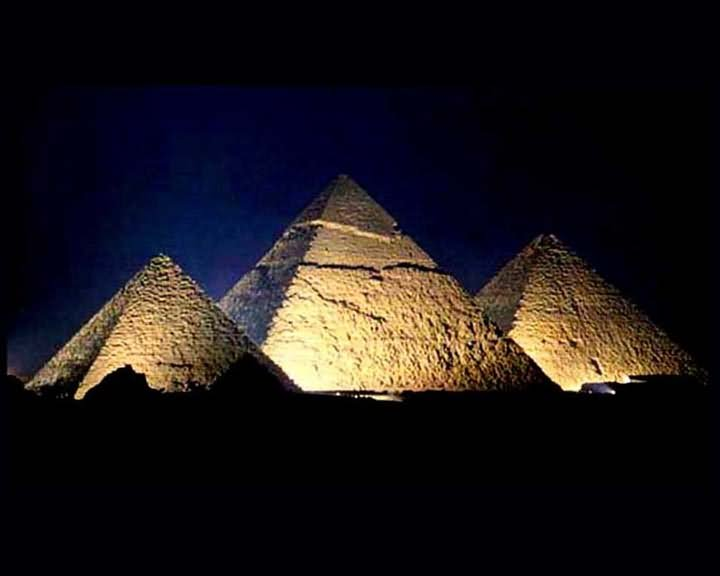 Egyptian Pyramid Night Picture