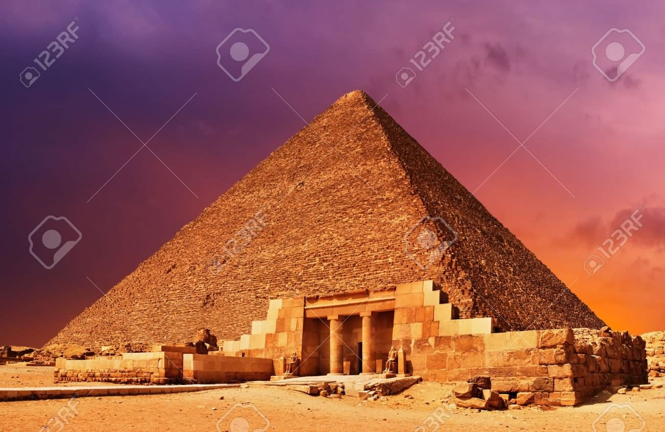 Egyptian Pyramid Sunset Picture