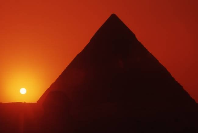 Egyptian Pyramid Sunset View Image