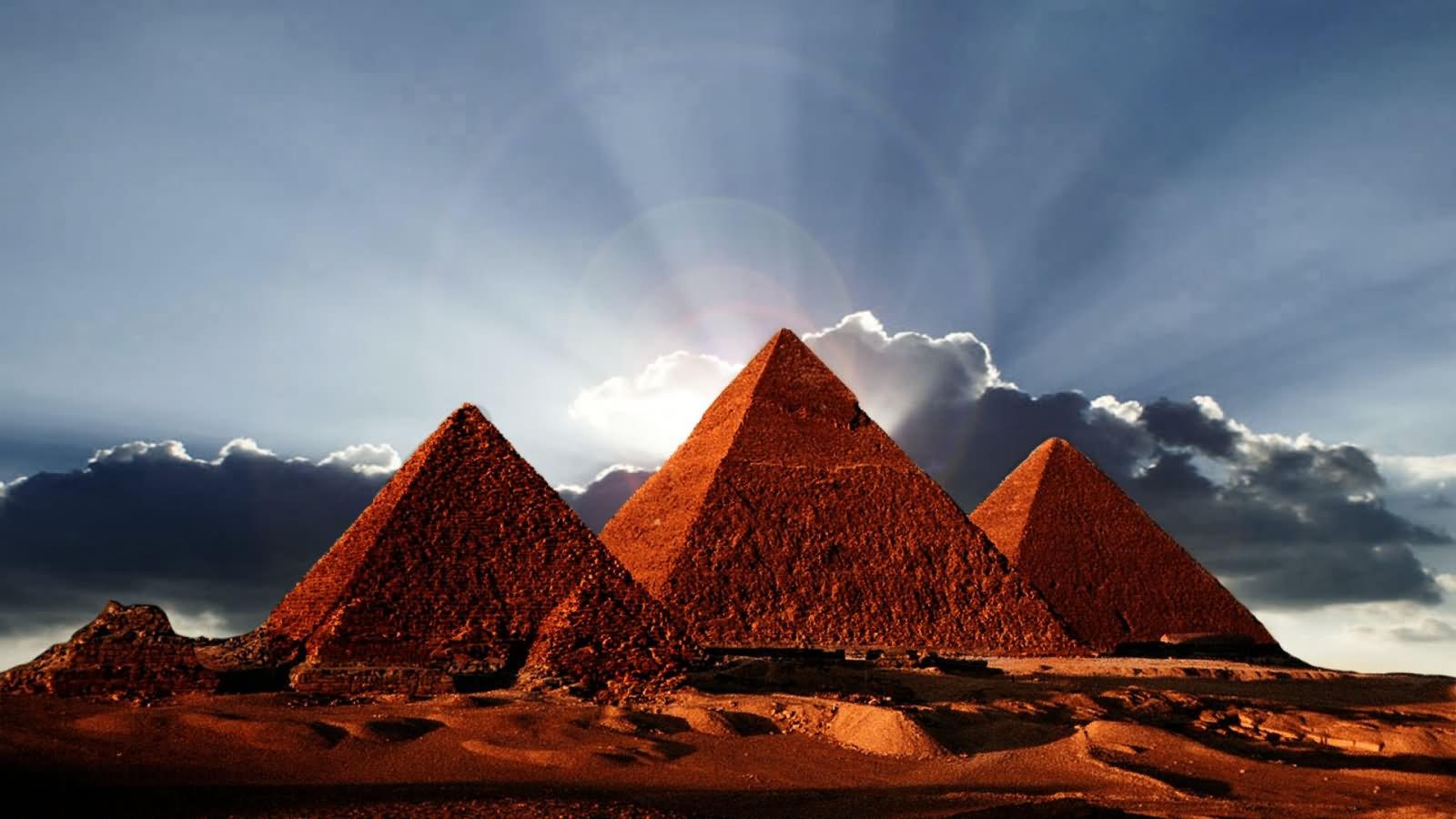 Egyptian Pyramids Looks Beautiful During Sunset