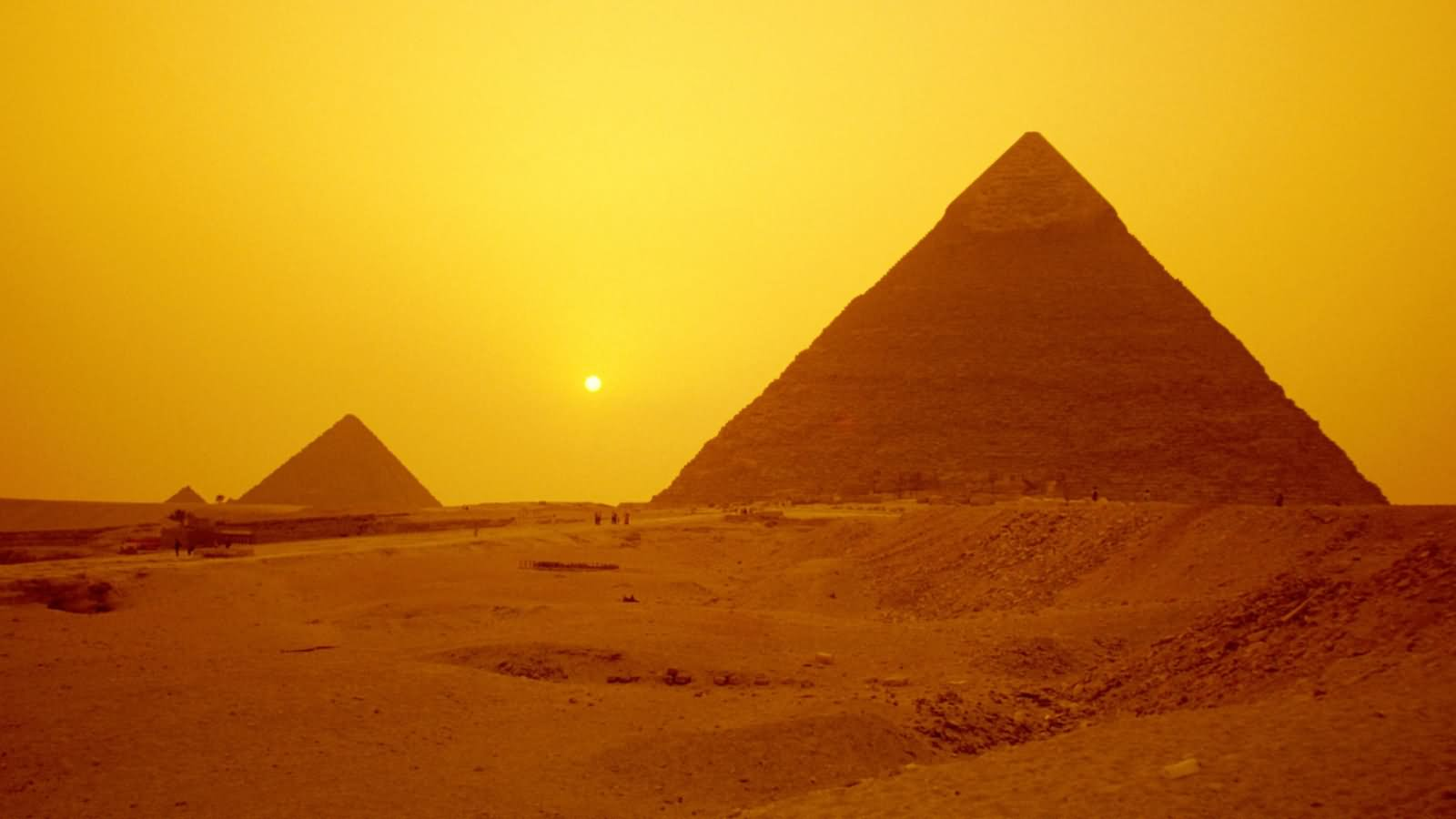 Egyptian Pyramids Sunset View