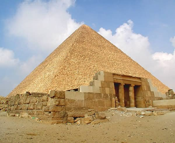 Entrance Of The Egyptian Pyramids