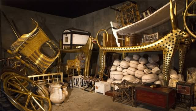 Food And Goods Inside Egyptian Pyramid
