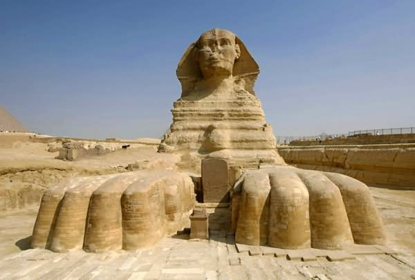 Front View Of The Great Sphinx of Giza