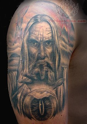16 amazing wizard tattoos on half sleeve for Ink wizard tattoo