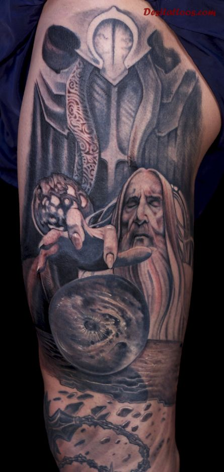 18 wizard tattoos on leg